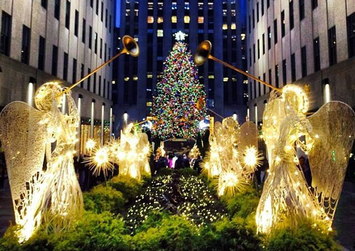 New york rockefeller center weihnachtsbaum 2016