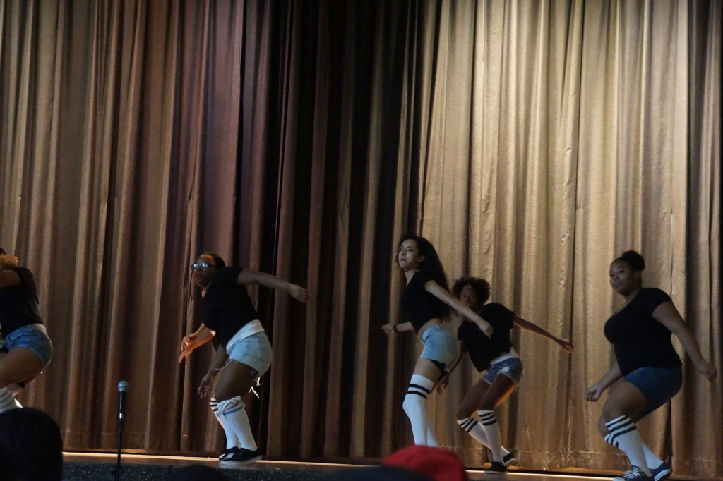dance team on stage